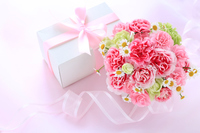 Carnation and gifts Stock photo [4992708] Mother's