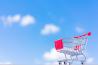 Blue sky and shopping cart Stock photo [4995842] business