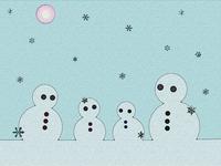 雪だるまの家族