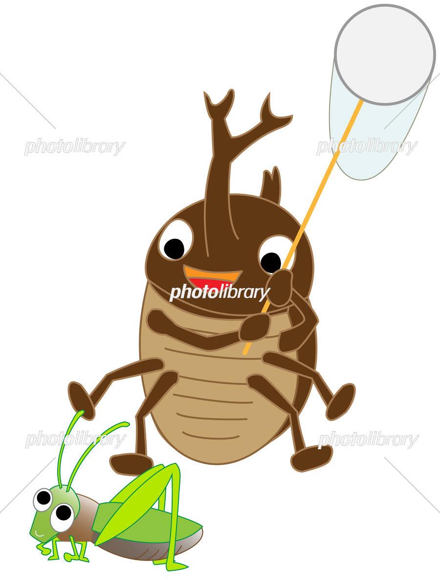 カブトムシの虫取り イラスト素材 5081584 フォトライブラリー