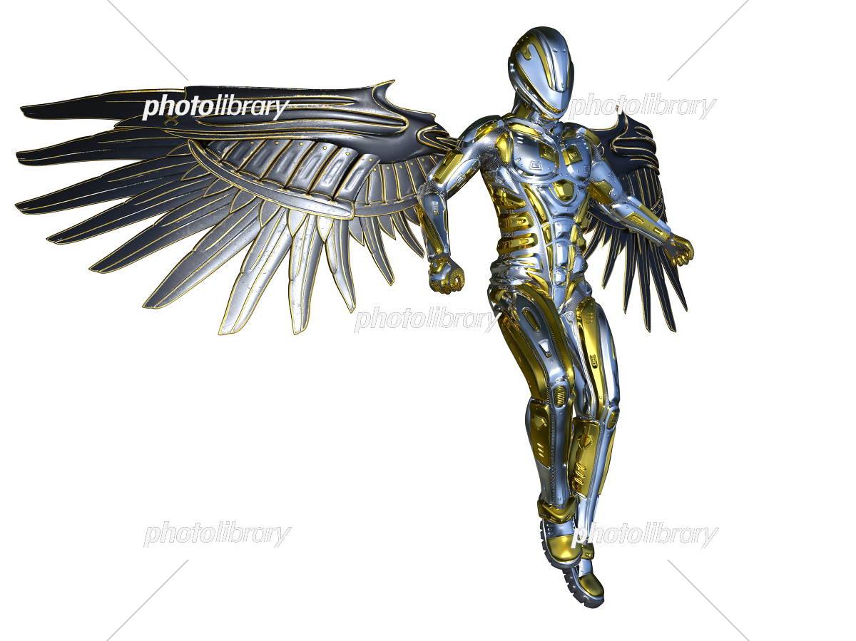 翼のあるロボット イラスト素材 5086422 フォトライブラリー