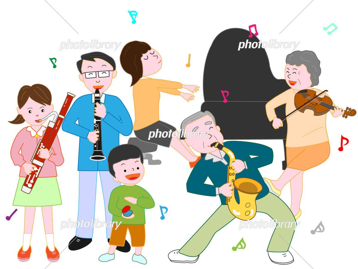 家族で演奏会 イラスト素材 5087894 フォトライブラリー Photolibrary