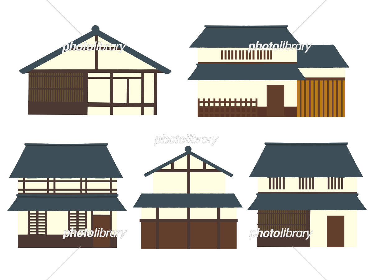 京町家 イラストセット イラスト素材 5088542 フォトライブラリー