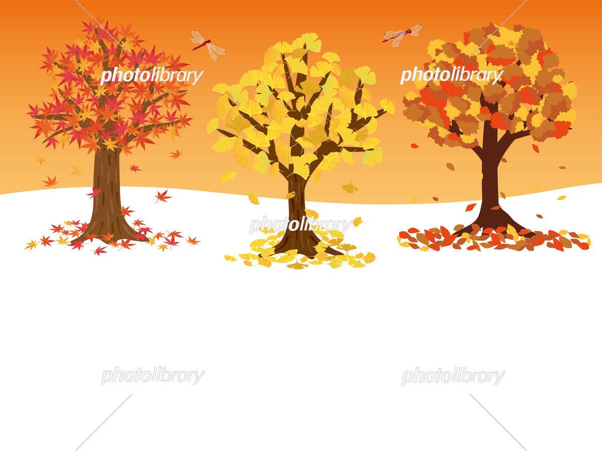 秋の木の背景素材 イラスト素材 [ 5176601 ] - フォトライブラリー