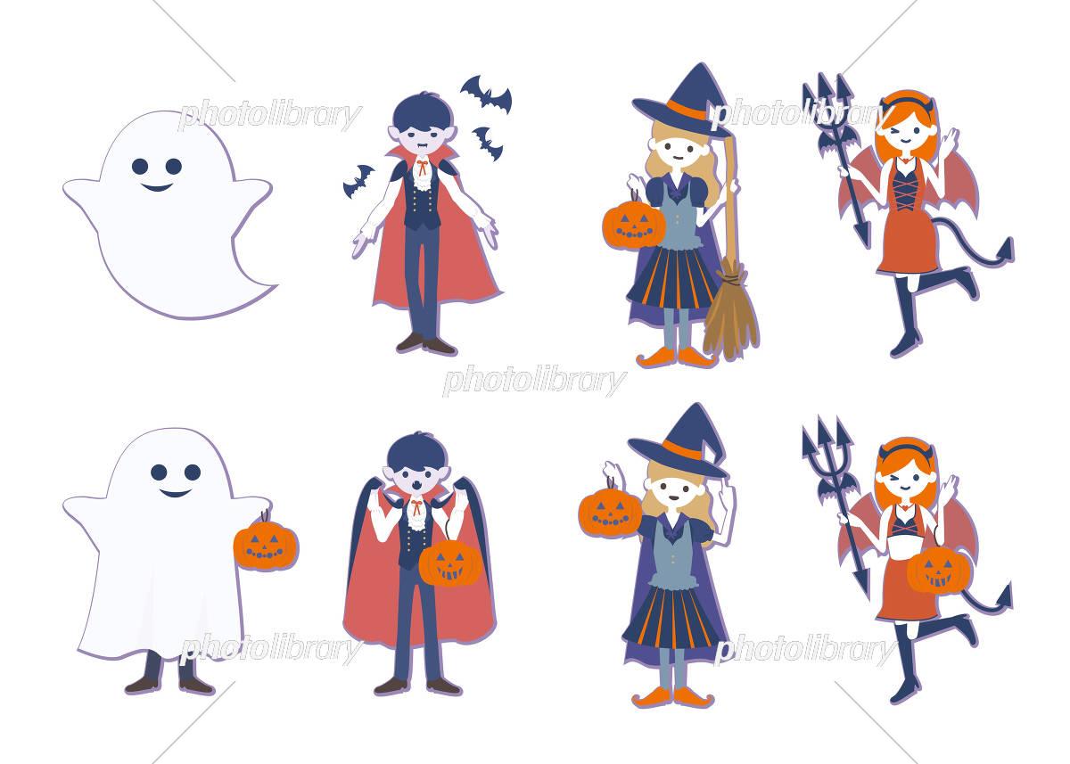 ハロウィンの仮装 イラスト素材 5177608 フォトライブラリー