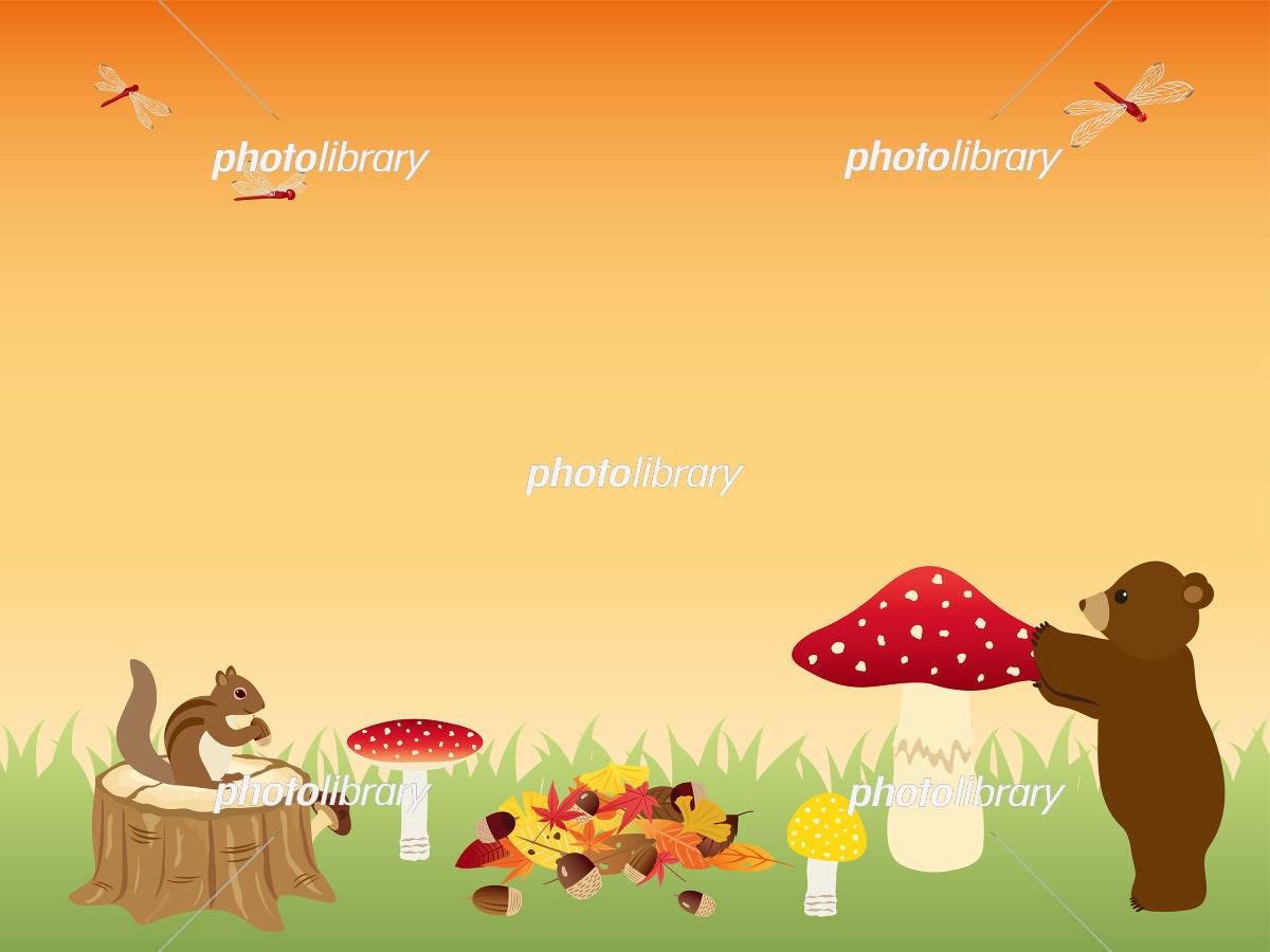 秋の森の動物たち イラスト素材 5177665 フォトライブラリー