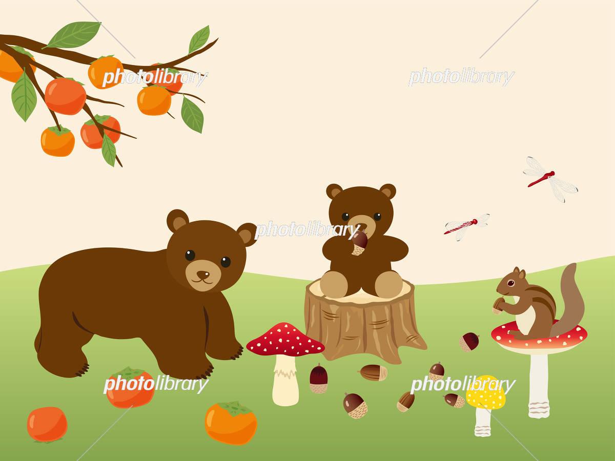 秋の森の動物たち イラスト素材 5177668 フォトライブラリー