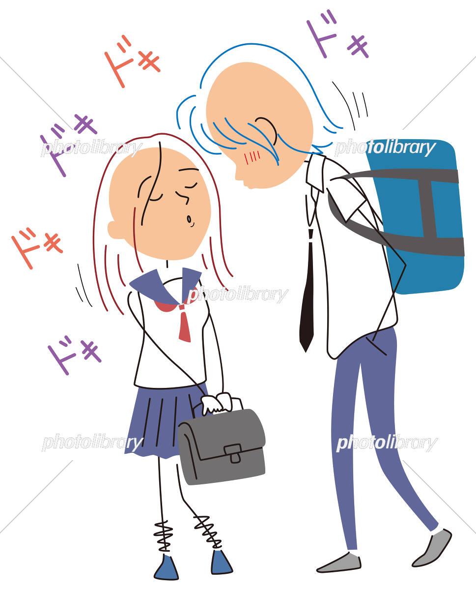 キスするかもしれないカップル イラスト素材 [ 5180844 ] - フォト