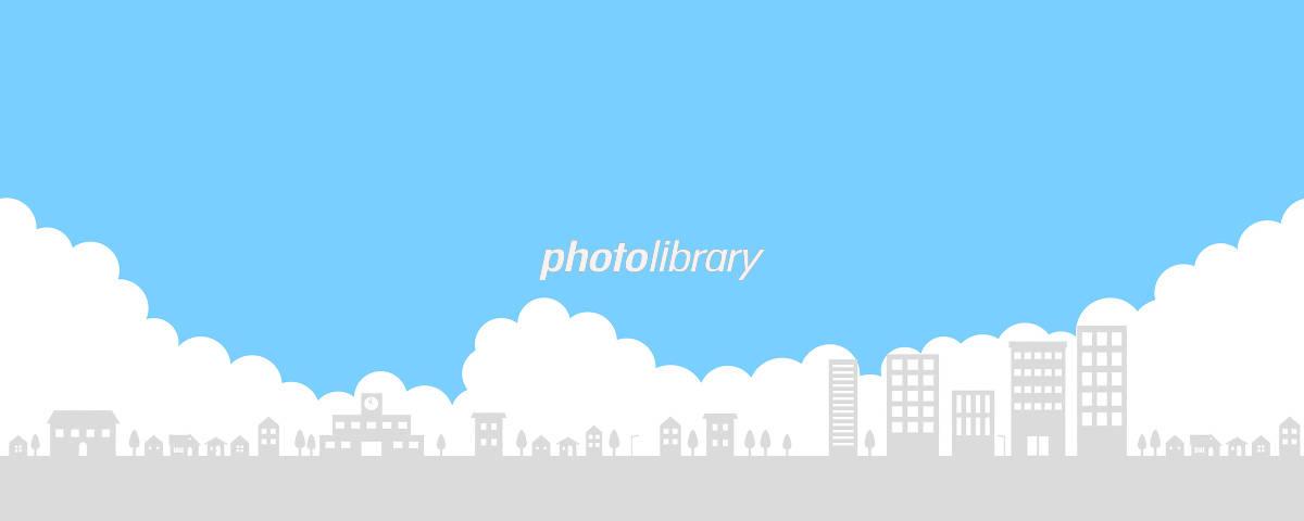 住宅街と空 イラスト素材 5182284 フォトライブラリー Photolibrary