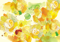Sunflower watercolor small  Illust