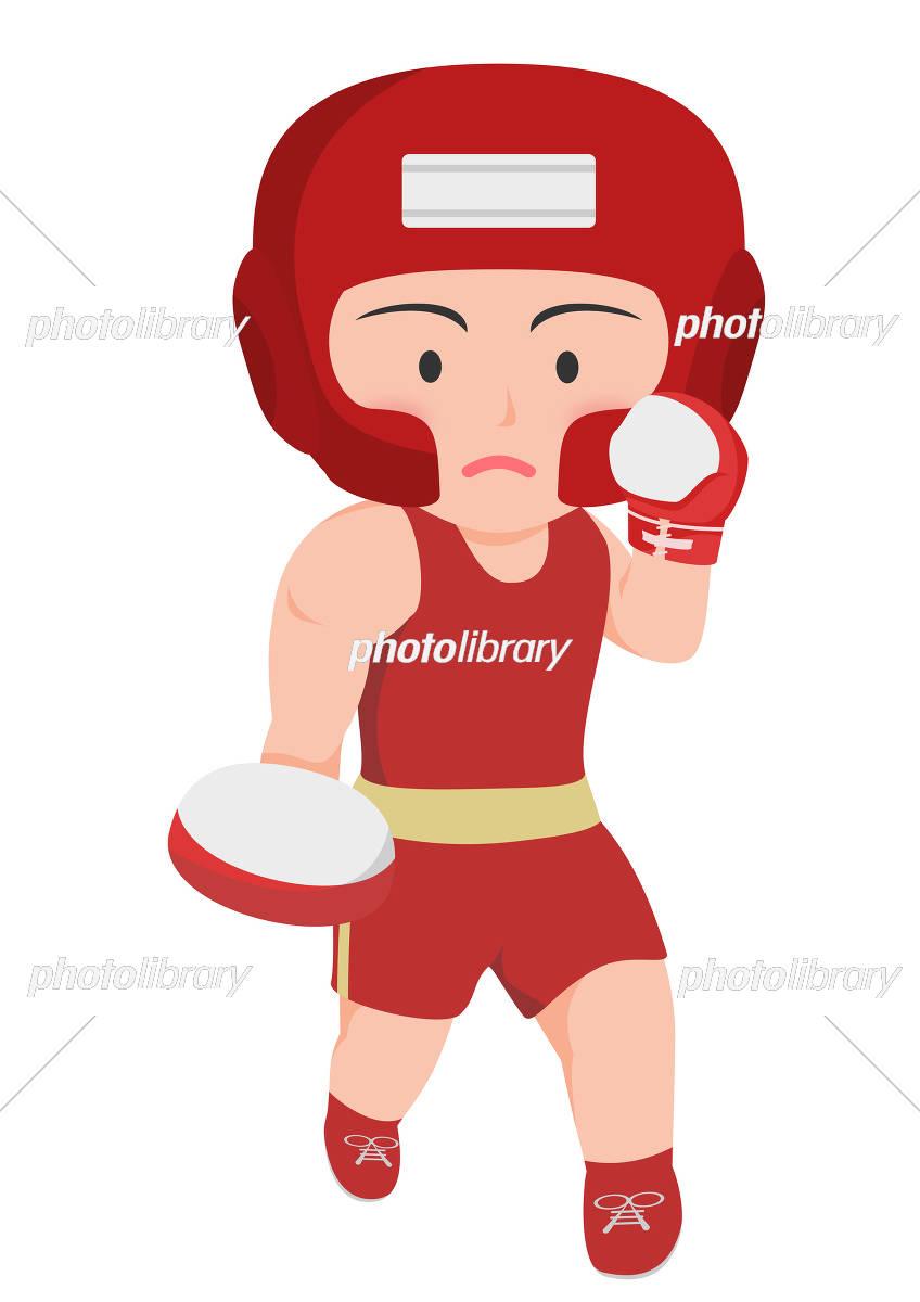 ボクシング 右アッパー アマチュアボクサー イラスト素材 5272486