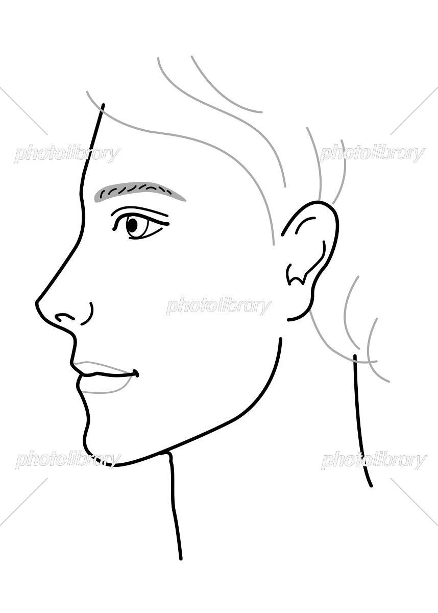 男性 顔 横顔 イラスト イラスト素材 5275362 フォトライブラリー