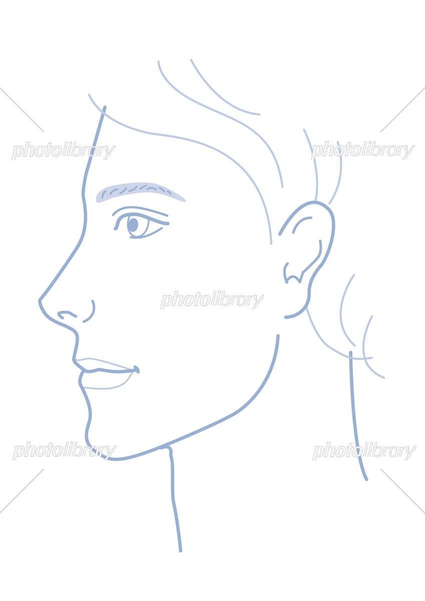 男性 顔 横顔 イラスト イラスト素材 5275365 フォトライブラリー