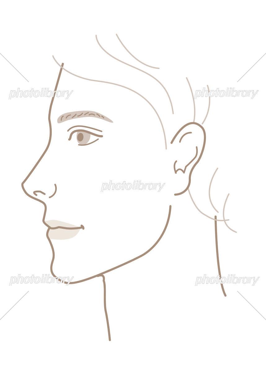 男性 顔 横顔 イラスト イラスト素材 5275409 フォトライブラリー