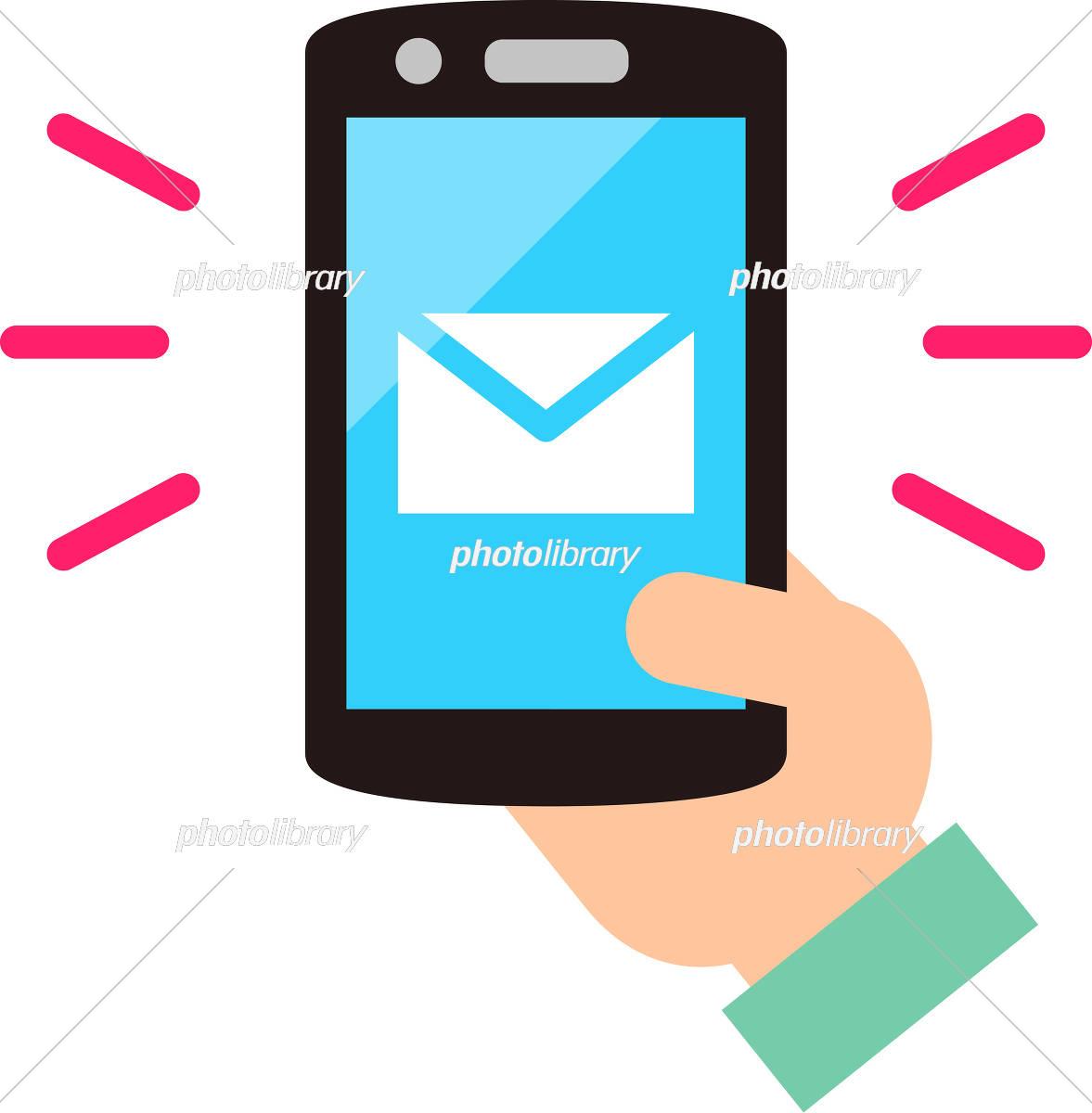 スマートフォンのメールアプリ イラスト素材 5358450 フォト