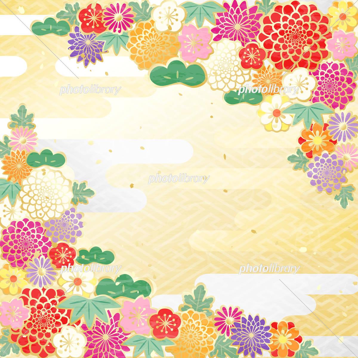 和柄 カラフル 花柄 イラスト素材 5362785 フォトライブラリー