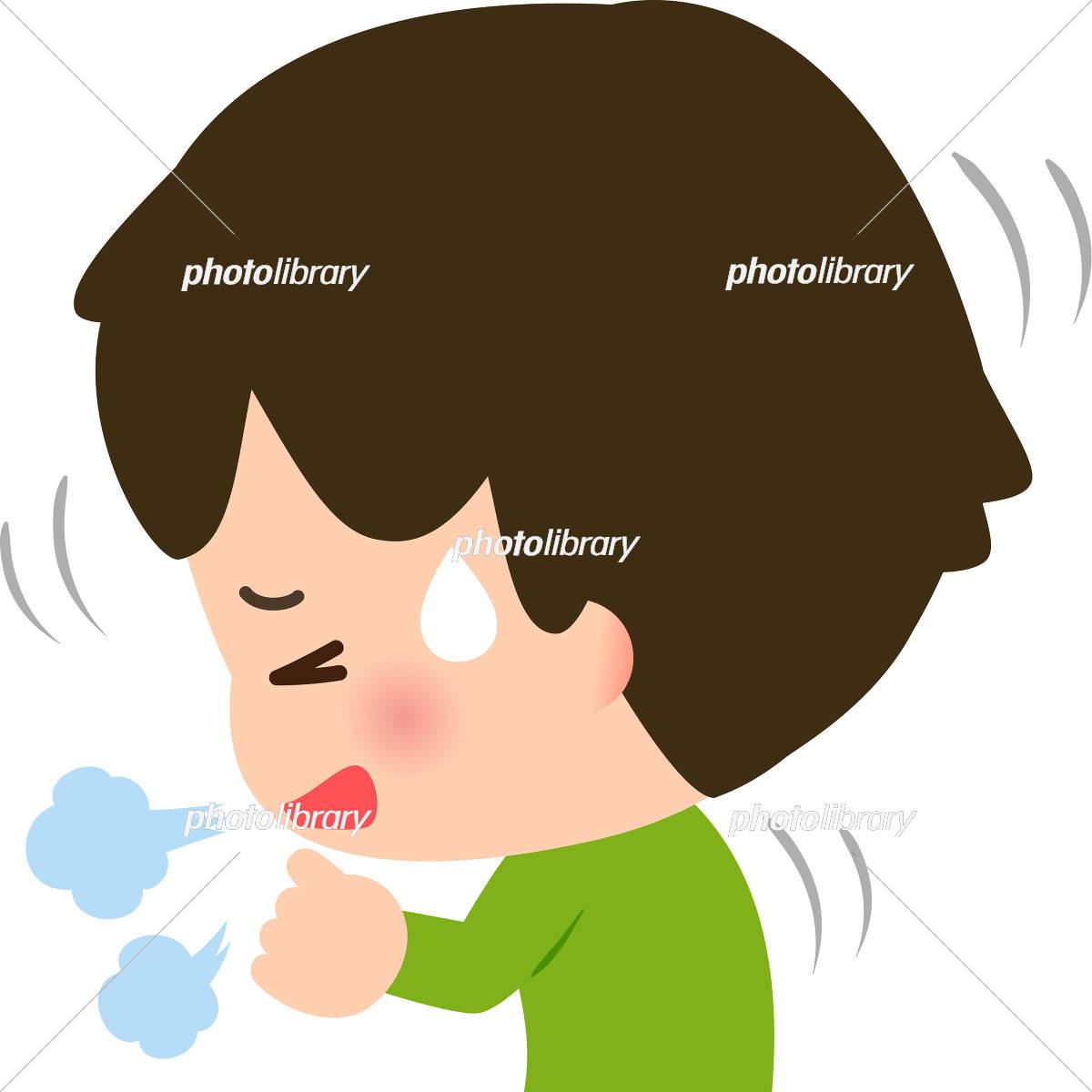 咳き込む男の子 イラスト素材 5363449 フォトライブラリー