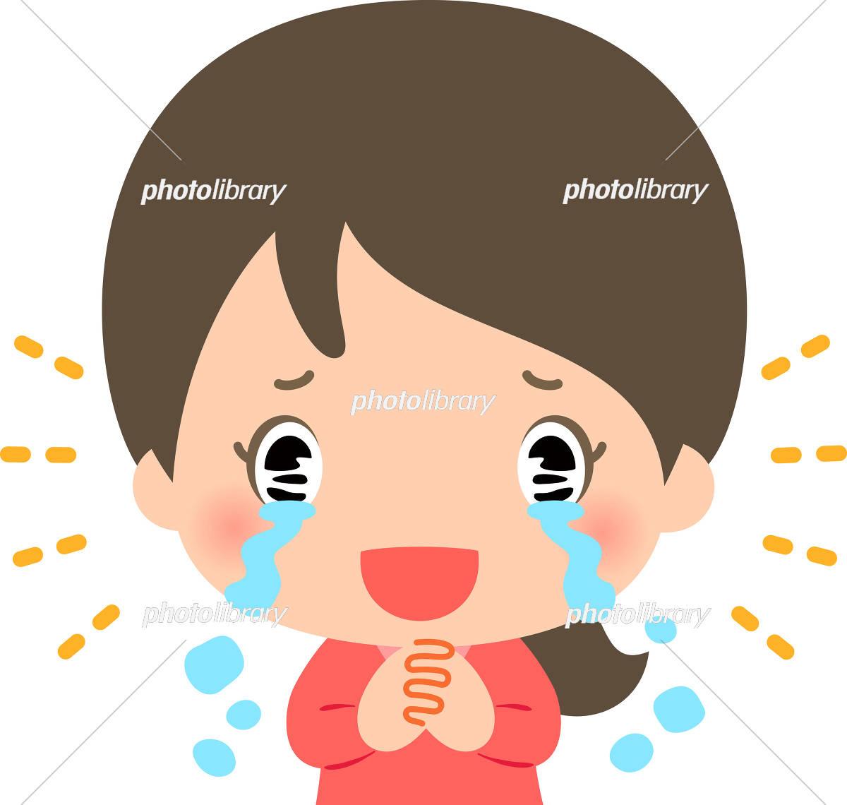 感涙する若い女性 イラスト素材 [ 5365738 ] - フォトライブラリー ...