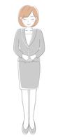 イラスト Bowing suit woman(5356411)