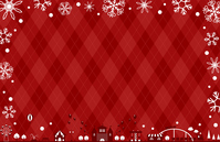 イラスト Theme park Snow Argyle background(5356434)