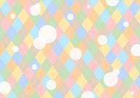 イラスト Colorful dot Argyle background(5356435)
