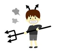 イラスト A child who takes pride in the devil(5356539)