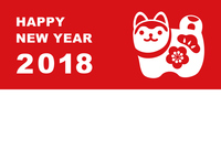 New Year's card of New Year's Eve Simple in 2018 Zenko [5358688] New