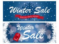 イラスト Winter Sale Banner Set(5358988)