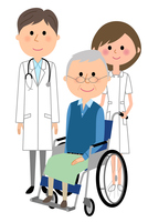 イラスト White coat male nurse wheelchair patient(5362574)