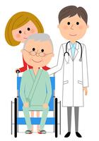 イラスト White coat male wheelchair patients(5362590)