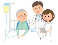 イラスト Male nurse inpatient in white coat inpatient(5362602)