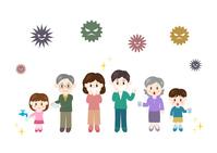 イラスト Family cold prevention Virus influenza illustration(5363294)