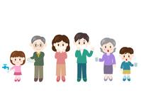 イラスト Family cold prevention gargle mask Hand wash illustration(5363295)