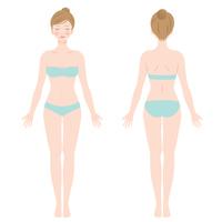 イラスト Female body whole body(5363364)