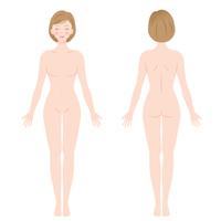 イラスト Women naked whole body(5363367)