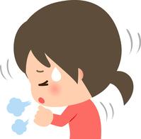 イラスト Young woman coughing(5363444)