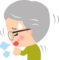 イラスト Senior men coughing(5363452)