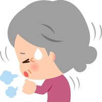 イラスト Senior woman coughing(5363455)