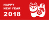 New Year's card of New Year's Eve Simple in 2018 Zenko ID:5358688