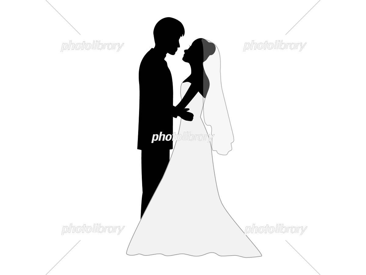 結婚式を挙げた幸せなカップル イラスト素材 [ 5419579 ] - フォト