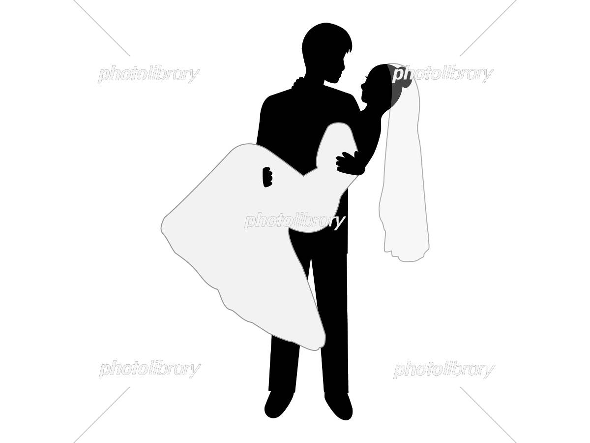 結婚式を挙げた幸せなカップル イラスト素材 [ 5419584 ] - フォト