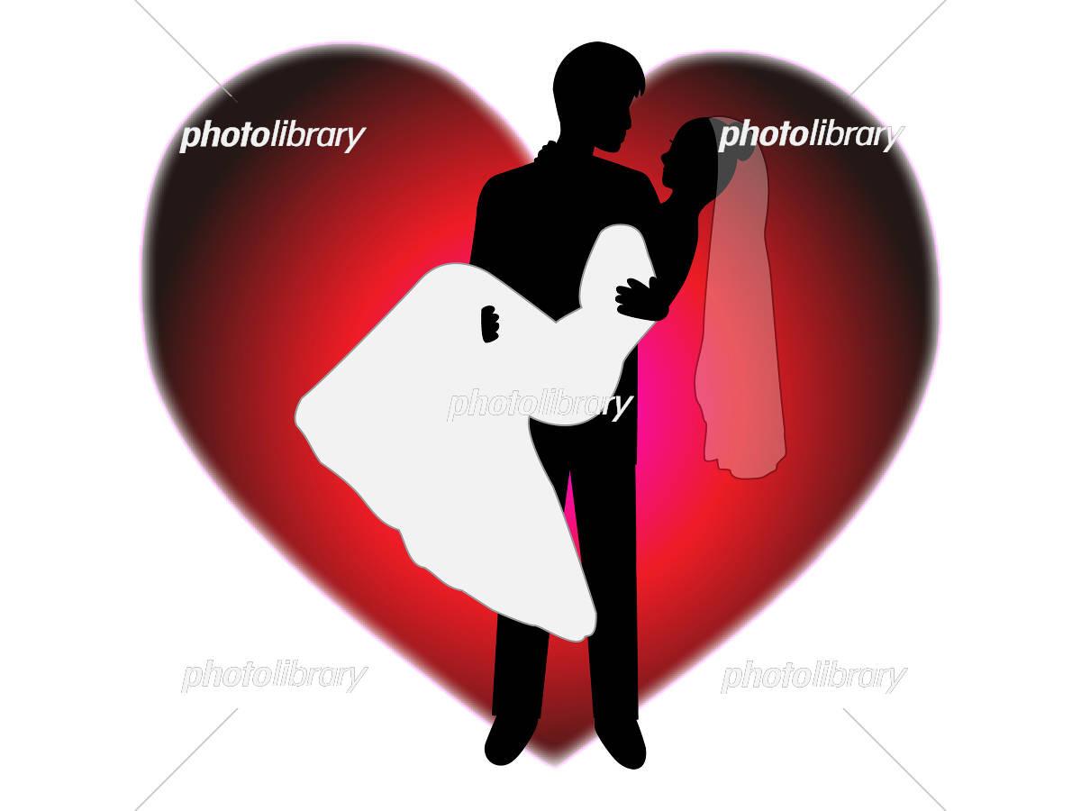結婚式を挙げた幸せなカップル イラスト素材 [ 5419595 ] - フォトライブ