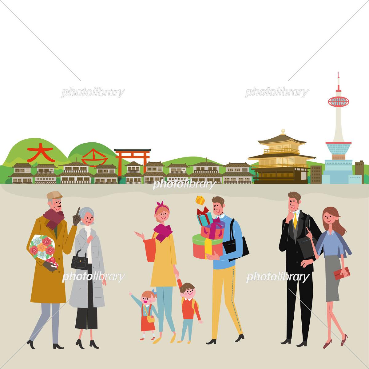 京都 イラスト 観光 イラスト素材 [ 5420014 ] - フォトライブラリー