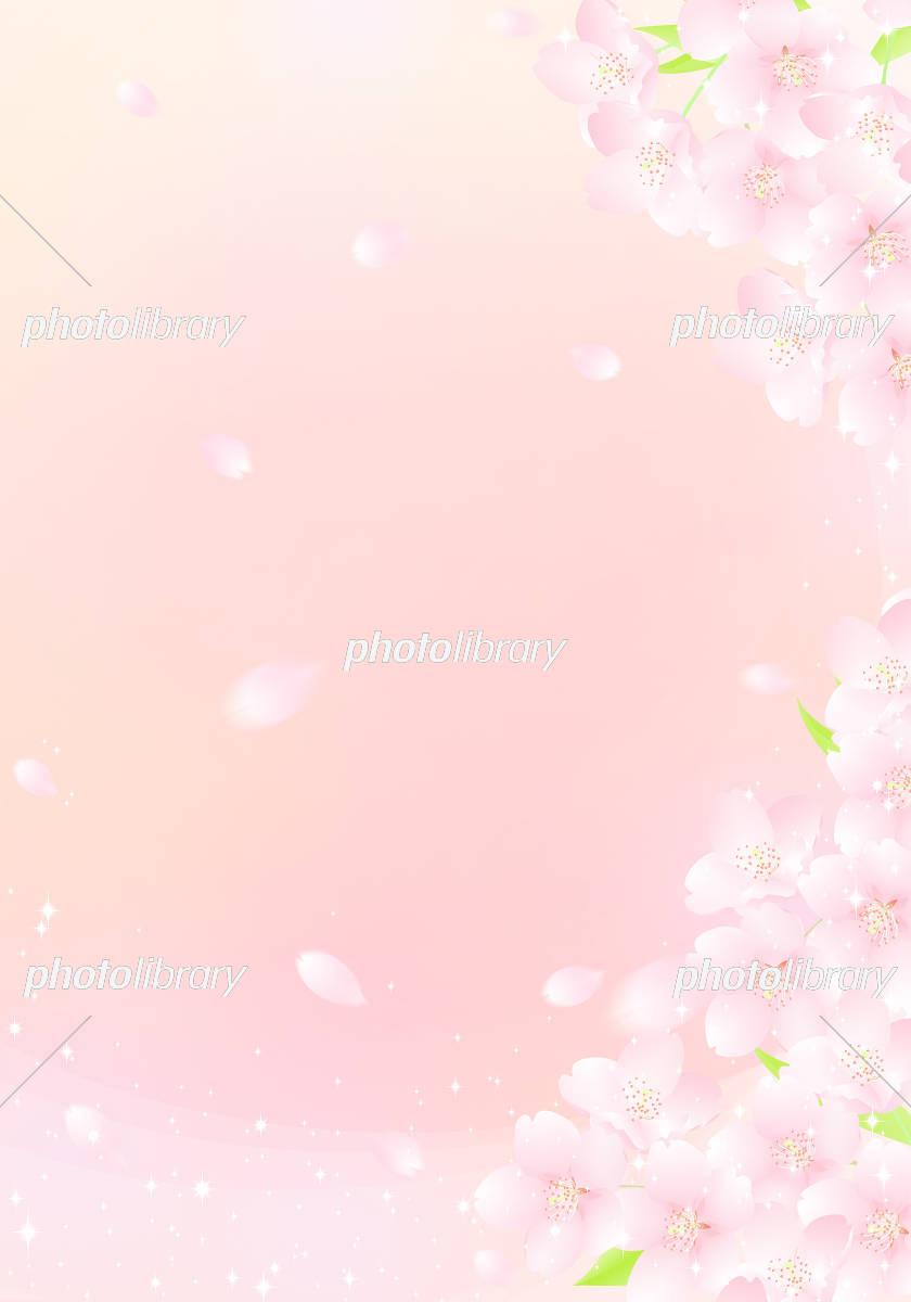 青空と桜吹雪 キラキラ イラスト イラスト素材 フォトライブラリー Photolibrary