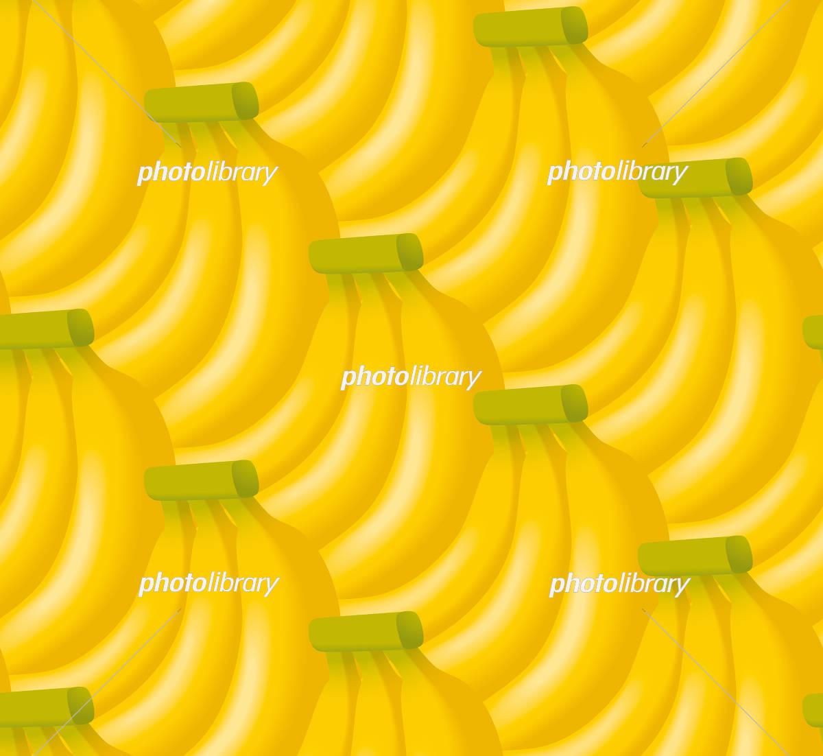 バナナのイラストの背景 シームレス イラスト素材 5453228