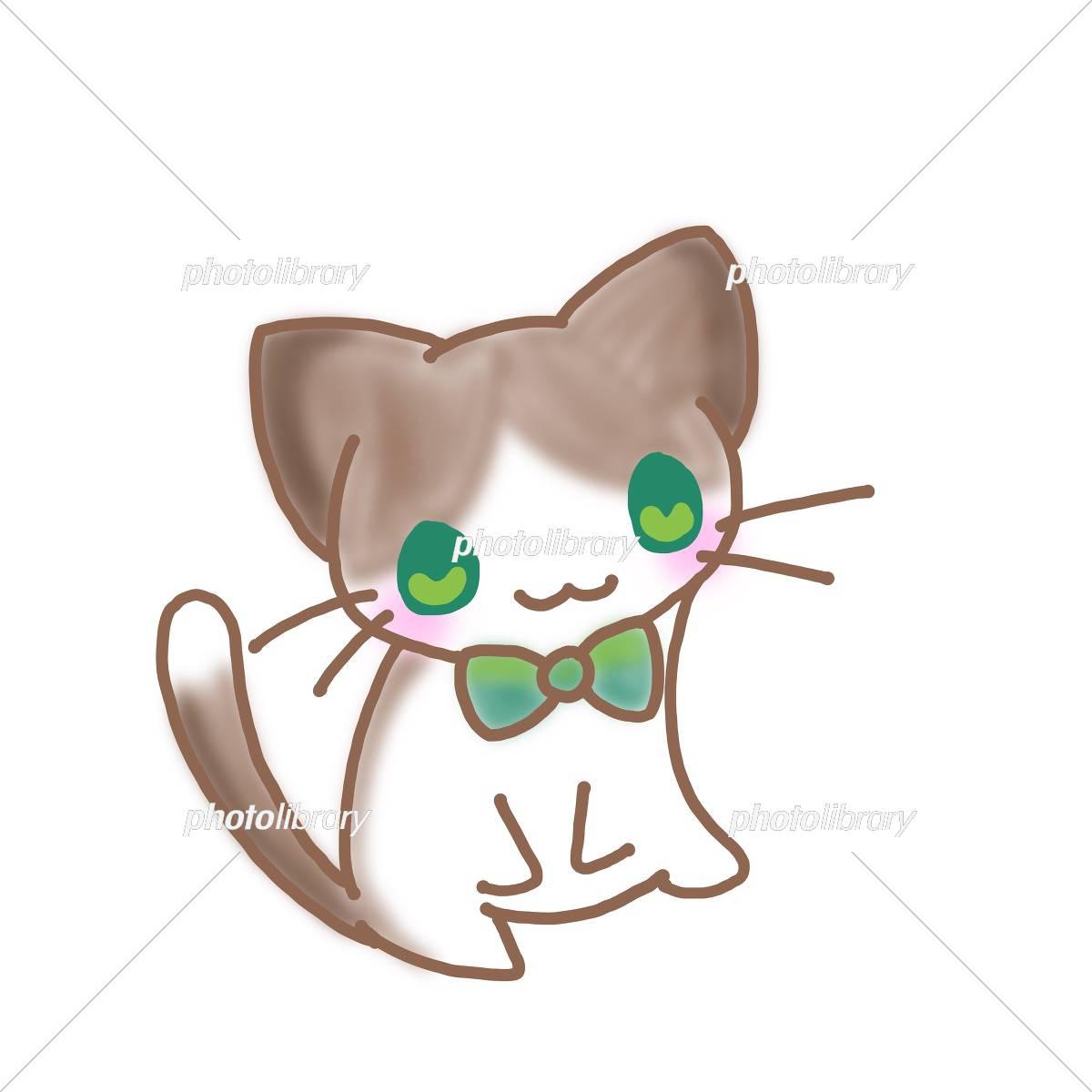 おしゃれな猫 イラスト素材 [ 5454226 ] - フォトライブラリー photolibrary