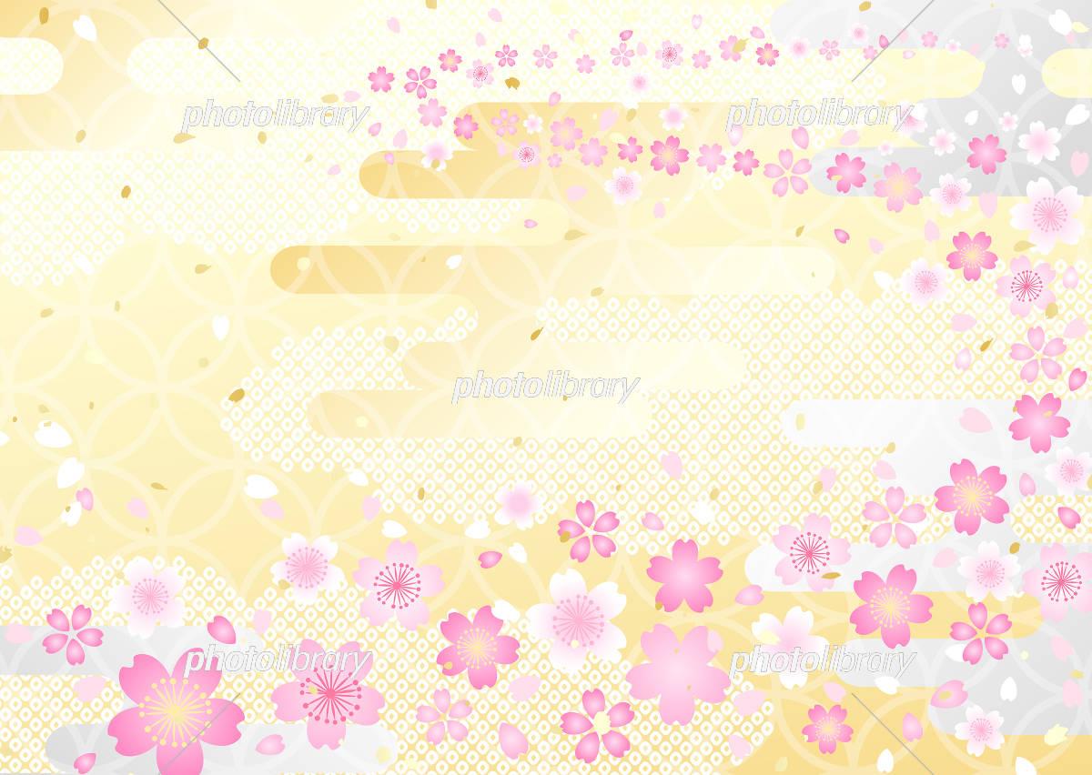 桜金銀和風背景 イラスト素材 [ 5454873 ] - フォトライブラリー