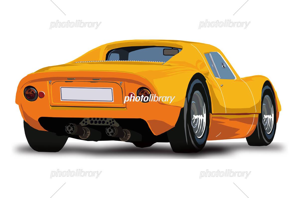 スポーツカー イラスト