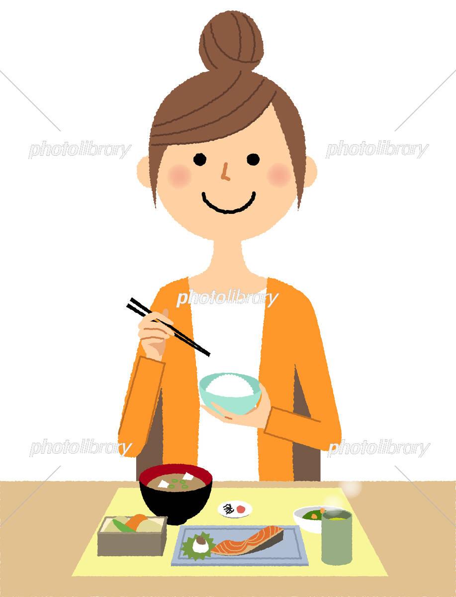 若い女性 ママ 食事 イラスト素材 5459104 フォトライブラリー