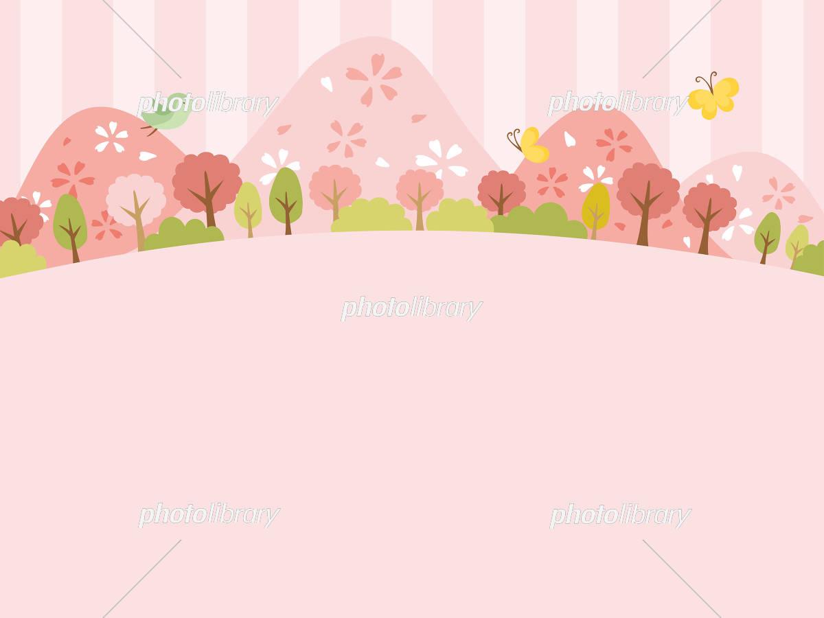 春の郊外の風景 イラスト素材 5460229 フォトライブラリー